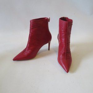 NWOT ALEXANDRE BIRMAN SUSANA RED LEATHER BOOT 6.5